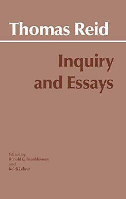 Inquiry and Essays, Thomas Reid | Paperback Book | 9780915145850 | NEW