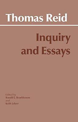 Inquiry and Essays by Thomas Reid | Paperback Book | 9780915145850 | NEW