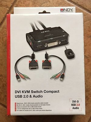 LINDY - HDMI DVI KVM Switch Compact USB 2.0 & Audio Port