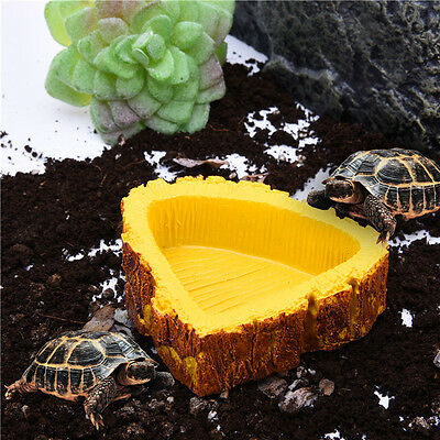 8.5*7.5 cm Pet Tortoise Snake Reptile Terrarium Drinking Food Water Bowl Feeder