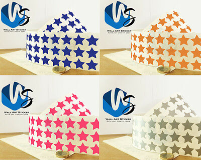 324 Star Shape Vinyl Stickers 20mm Self Adhesive Peel & Stick Colour Label 1000E