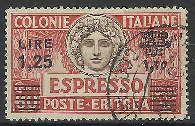 ITALY OCCUPATION OF ERITREA 1927 EXPRESS LETTER 1L.25c USED
