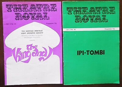 Theatre Royal Norwich Programmes x 2, 1975, The King and I and Ipi-Tombi