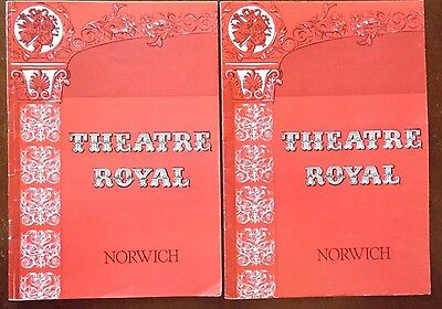 Theatre Royal Norwich Programmes x 2, 1977, Somethings Afoot, Gilbert and Sulliv