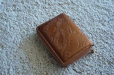 Authentic Bronze Patent Louis Vuitton Zip Card Wallet