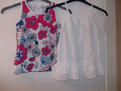 Girl's Summer Tops Bundle x 2 - Next and Matalan Age 9 Years