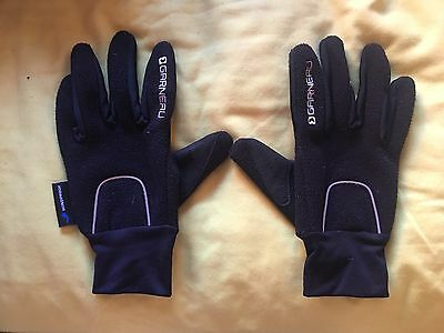 Garneau Unisex Black Winter Cycling Gloves - Size S