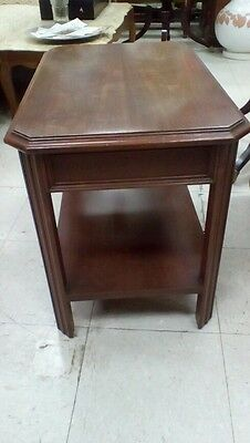 Vintage Solid Wood End Table 1940's