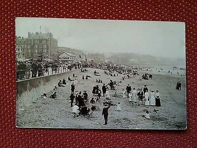 RP 1913 Family photo Douglas beach sandcastle competition Isle of Man real IOM