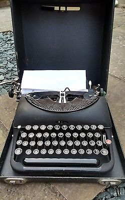 Antique vintage police typewriter Model 5