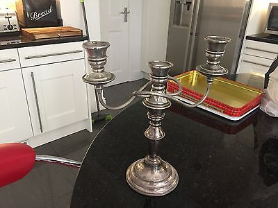 Antique Silver Plate Candle Holder