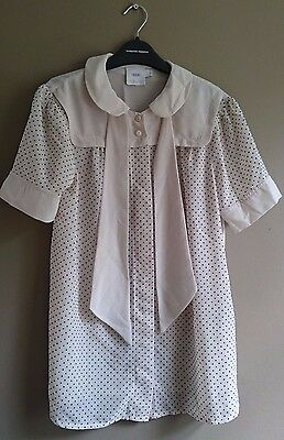 ASOS Cream Polka Dot Maternity Blouse/Top, Quite Retro/Vintage, Size 8