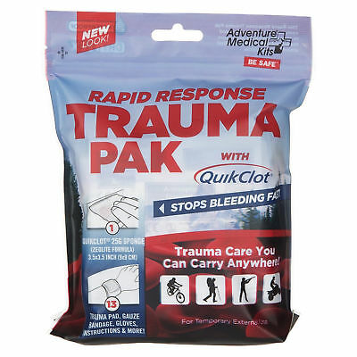 Adventure Medical Kits Rapid Response Trauma Pack w/ QuikClot Clotting Sponge