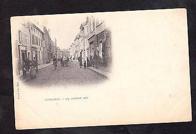 Cpa - 54 - Luneville - La Grande Rue - Personnages - Animee