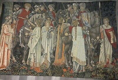 William Morris Medieval Knights Tapestry The Arming and Departure of the Knights