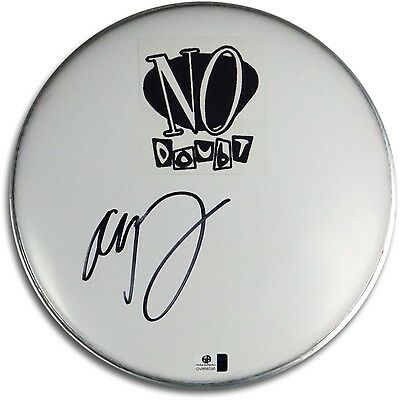"""Adrian Young Signed Autographed 10"""" White Drumhead No Doubt Drummer GV866090"""