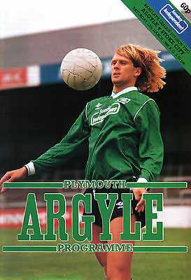 1987/88 Plymouth Argyle v Stoke City, Division 2, PERFECT CONDITION