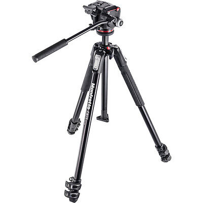 Manfrotto MK190X3-2W Three Section Tripod with MHXPRO-2W Fluid Head