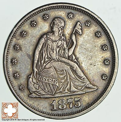 1875 Seated Liberty Twenty Cent Piece *2234