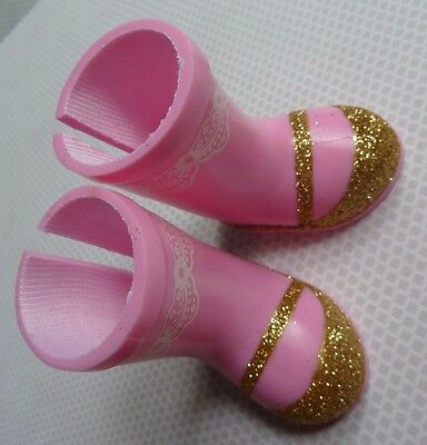 ASHLYN Wellie Wishers -Pink Gold Boots Brand New