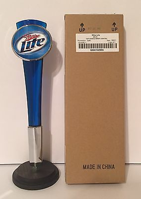"Miller Lite Blue Acrylic Beer Tap Handle 12"" Tall - Brand New In Box"