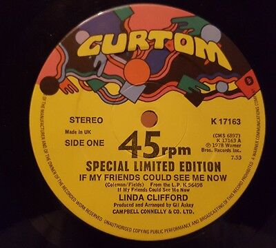 """Linda Clifford - If my friends could.. 12"""" vinyl single Special Ltd Edition"""