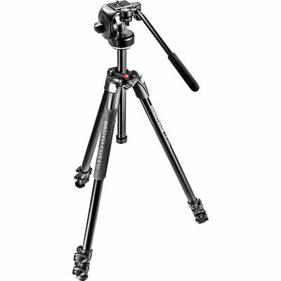 Manfrotto MK290XTA3-2WUS 290 Xtra Aluminum Tripod w128RC Micro Fluid Video Head