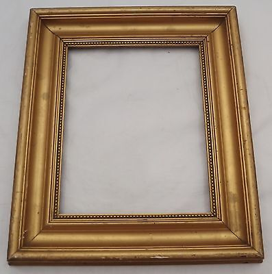 "ANTIQUE LATE VICTORIAN SMALL WOOD & GESSO GILT FRAME (EMPTY) 11.5"" x 10"""