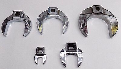 "5 Pc Snap On 3/8"" Drive Crowfoot Wrench Set"