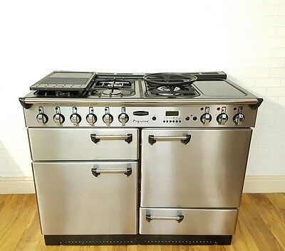 Rangemaster Professional 110Cm Dual Fuel Range Cooker In Stainless Steel