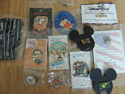 12 assorted disney pins with lanyard ideal for trading or keeping