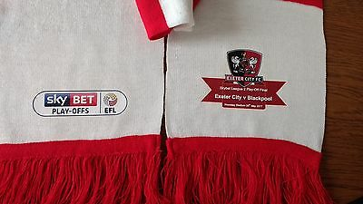 2017 Exeter City League Two Wembley Play-Off Off Final Scarf