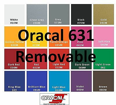 """12"""" Adhesive Vinyl Removable Plotter 4 Rolls 5 Feet Oracal 631  Great Deal  USA"""