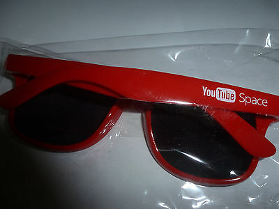 You Tube Space New In Bag Sunglasses Red W/ Uv Eye Protection For Kids & Adults