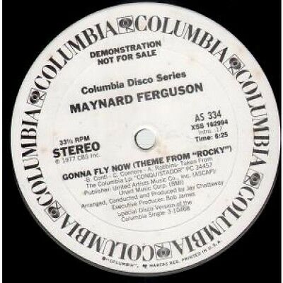 "MAYNARD FERGUSON Gonna Fly Now 12"" VINYL US Columbia 1977 2 Track Promo Stereo"