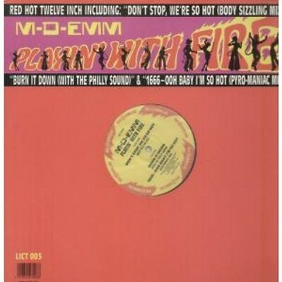 """M-D-EMM Playin' With Fire 12"""" VINYL UK Republic 1988 3 Track (Lict003) Pic"""