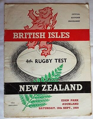 New Zealand v British & Irish Lions 4th Test 1959 rugby programme