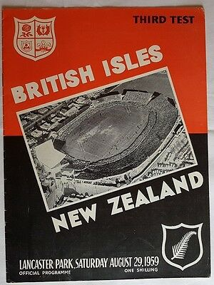 New Zealand v British & Irish Lions 3rd Test 1959 rugby programme