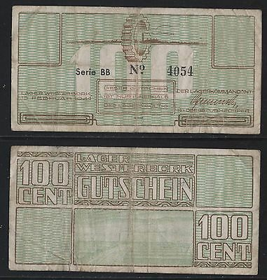 Netherlands, WW2, Judaica, Money note used Camp Westerbork.n24