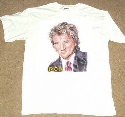 ROD STEWART WHITE COTTON T SHIRT all sizes S-XXXL