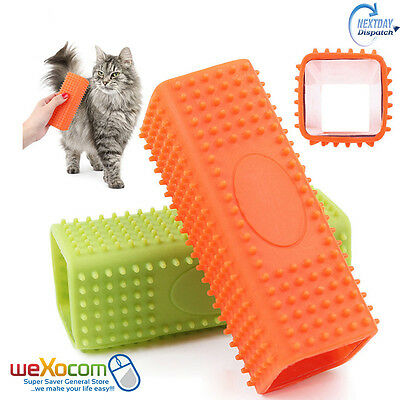 Pet Dog Puppy Cat Bath Brush Comb Depilation Soft Silicone Sticky Hair Tool