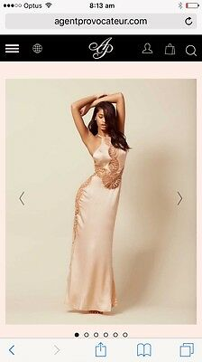 Agent Provocateur Romy Gown In Blush Sz 8