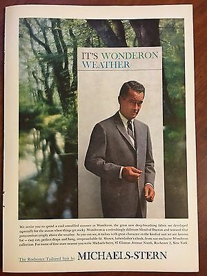 1960 Original Print Ad Rochester Tailored Suit MICHAELS-STERN ~wonderon weather