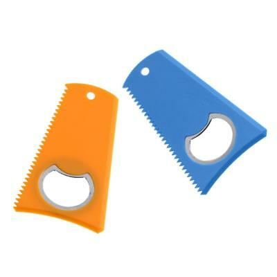 """2pcs Surfboard Wax Comb with Bottle Opener for SUP Kite Wake Board 3.15""""x 2"""""""