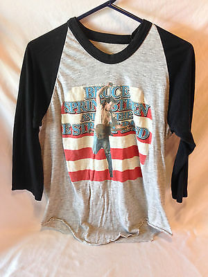 Vintage 1984 Bruce Springsteen concert tour sleeves T-shirt Born in the USA !!!