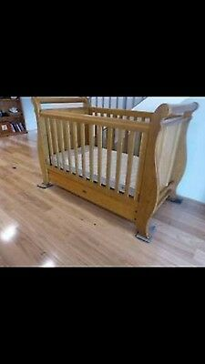 Boori Sleigh Cot, change table and drawers