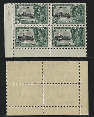 Malta Jubilee Issue 3184a,corner block of 4, MNH.n24