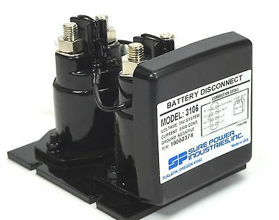 Super Power 3106 Battery Disconnect 24V 300A Dual Relay Control for Mrap & Fmtv