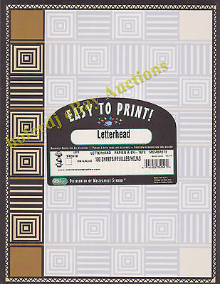 Leone Squares 100 ct. Count Fine Stationery *NEW Letterhead Great Papers! Count