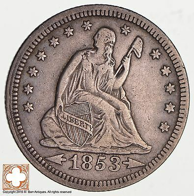 1853 Seated Liberty Silver Quarter *3516